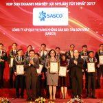 SASCO ĐẠT TOP 500 DOANH NGHIỆP CÓ LỢI NHUẬN TỐT NHẤT VIỆT NAM