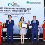 SASCO được vinh danh  ba năm liên tiếp TOP 10 Doanh nghiệp phát triển bền vững Việt Nam.