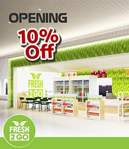 FRESH2GO – GRAND OPENING  ✈ From only 20.000VNĐ, the new convenient store & take-away Fresh2Go is the best choice for those who travelling on budget! ✈ Come to us and get immediate 10% discount on any bill – only from 26th Oct to 25th Nov 2016! ✈ Find Fresh2Go at the newly extended area in international terminal, Tan Son Nhat airport, now!