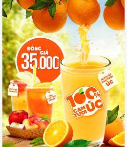 Thương hiệu nước ép cam tươi từ Úc lần đầu xuất hiện tại Việt Nam