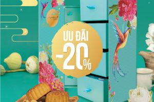 GET 20% OFF and GET 1 bottle of pure fruit juice (2 liters) when buying a box of premium Milan moon cakes.