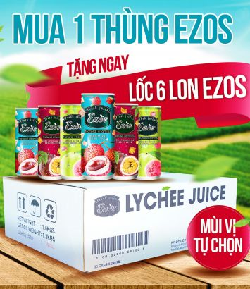 Buy 1 box of EZOS and get 6 free cans of any flavor