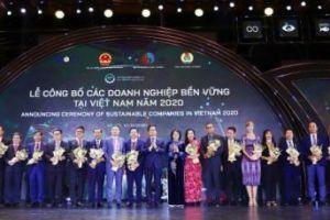 SASCO tiếp tục Dẫn đầu doanh nghiệp phát triển bền vững Việt Nam năm 2020